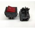 KCD4-201N-B Выключатель клавишный 250В 25А (4с) ON-OFF красный с подсветкой REXANT 36-2343