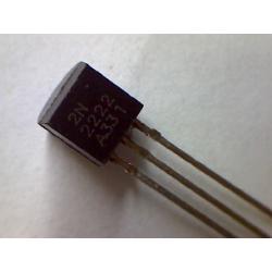 2N2222A  NPN 60V 0,8A 0,5W B>100 TO-92 EBC