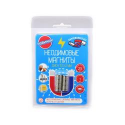 Блистер Неодимовые магниты диски 10х2 мм - 25 шт