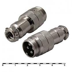 GX16M-4 кабельная вилка 4pin 16 мм