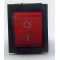 KCD4-202N, 1кл. переключатель с подсветкой, красный OFF-ON, (16A 250VAC)
