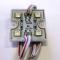 SMD 5050/4LED (красный) 35х35х5мм 1W 64Lm IP65 (пласт. корпус) 120° Светодиодный модуль STANDART