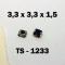 3.3x3.3x1.5 мм, TS-1233, тактовая кнопка