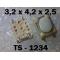 3.2x4.2x2.5 мм, TS-1234, тактовая кнопка