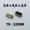 3.6x6.0x2.5 мм, TS-1236B, тактовая кнопка