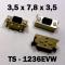 3.5x7.8x3.5 мм, TS-1236EVW, тактовая кнопка