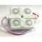 SMD 2835/4LED (белый холодный) 200Lm 36х36х6мм 2W IP65 160* Светодиодный модуль с линзой PREMIUM